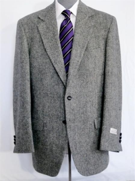MensUSA Single Breasted Tweed Sport Coat Brown Olive Herringbone at Sears.com