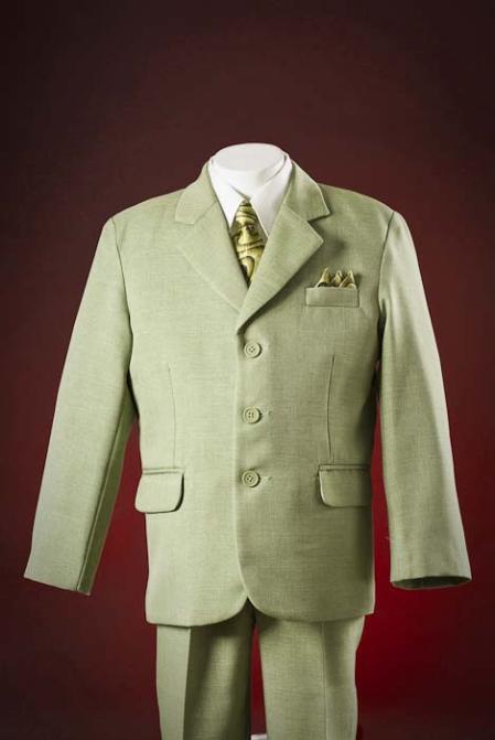 SKU#SAG681 3 Button Fashion Mint ~ Sage Kids-Toddler-Boy Suits $99