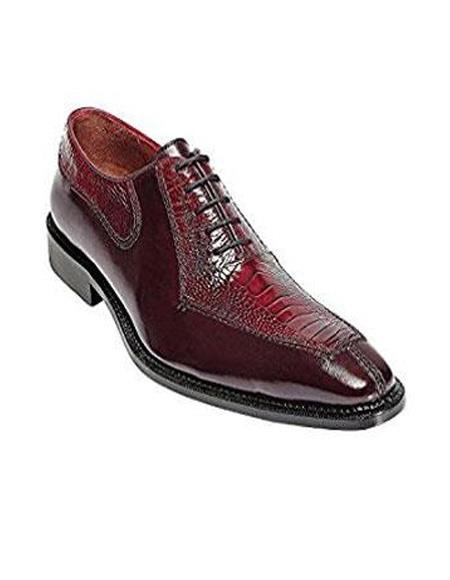 Mens Ostrich Top Dress Shoe by Belvedere Red Dress Shoe Dino
