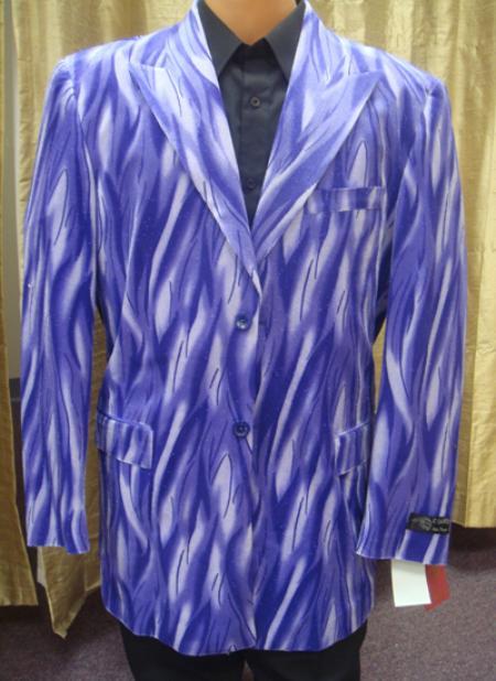 SKU#ZZ11 Mens Flame Jacket/Blazer in Purple $189
