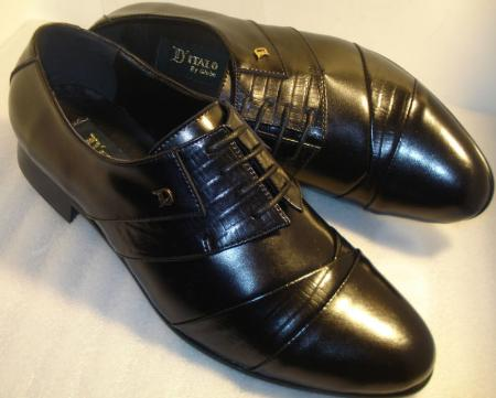 SKU#QB311 D Italo Mens Shoes Oxford Dress Shoes Black $99