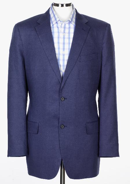 SKU#NMA13 Blue Mens Linen Suit Jacket $279