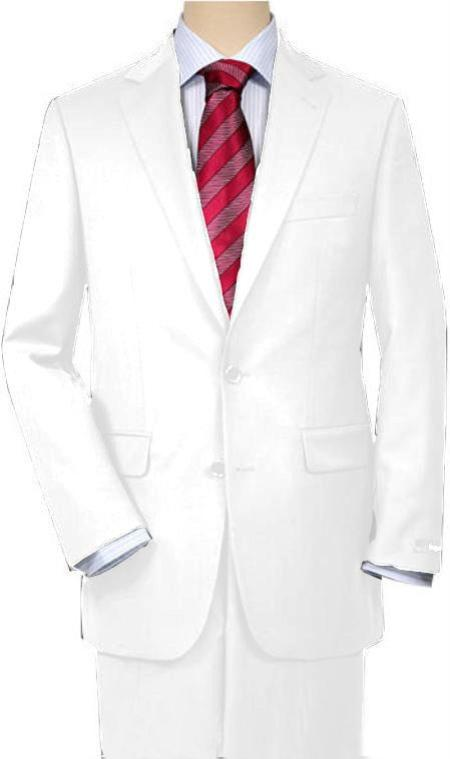 SKU#ERE21 White Quality Suit Separates, Total Comfort Any Size Jacket & Any Size Pants $189