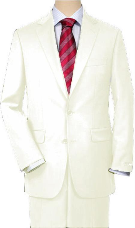 MensUSA.com Off White Quality Total Comfort Suit Separate Any Size Jacket and Any Size Pants(Exchange only policy) at Sears.com