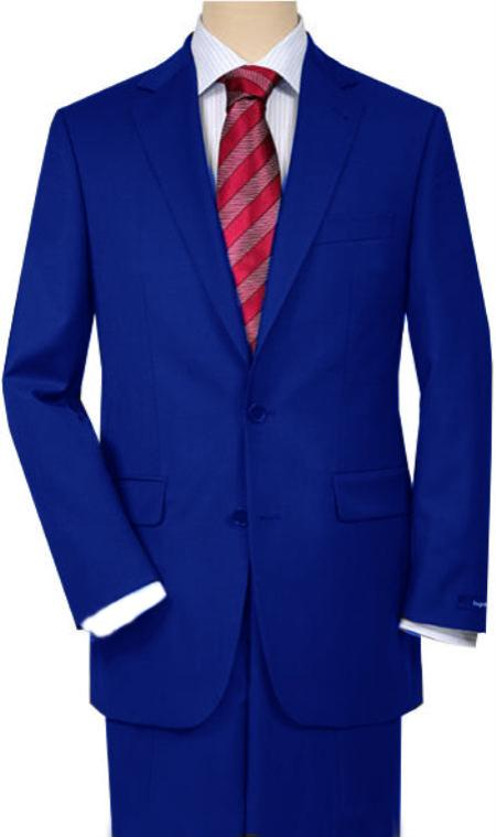 SKU#QZ46 Royal blue Quality Total Comfort Suit Separate Any Size Jacket & Any Size Pants
