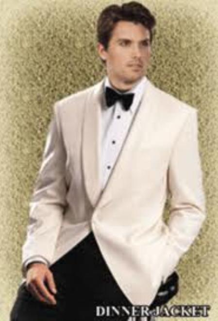 SKU#MA66 Reg : $495 Giorgio Mens Off-White Dinner Jacket On Sale $199