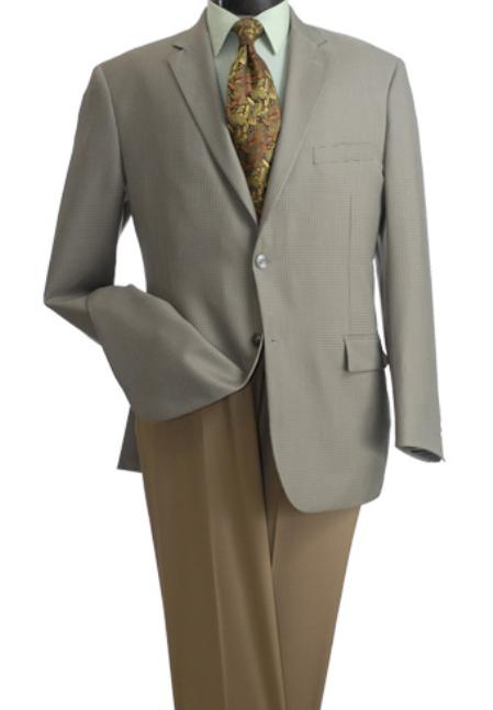 1960s Mens Suits | 70s Mens Disco Suits 2Button Wheat Color Classic Blazer $99.00 AT vintagedancer.com
