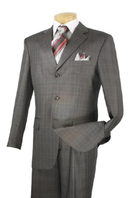 MensUSA Single Breasted 3 Button Charcoal Color Suit at Sears.com