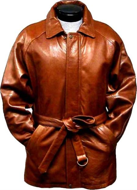 50s Men's Jackets| Greaser Jackets, Leather, Bomber, Gaberdine Mens Classic 34Length Coat with Belt Ranch Leather long trench coat  Raincoat  Duster $475.00 AT vintagedancer.com