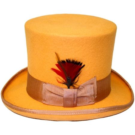 SKU#ORN24 Mens Elegant Top Hat - Orange $79