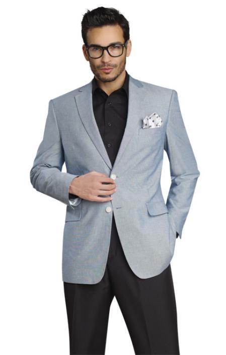 Mens Stylish Two Button Jacket Grey