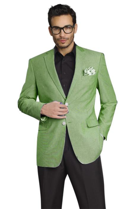 MensUSA Mens Stylish Two Button Jacket Mint at Sears.com