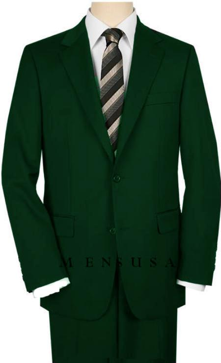Mens Dark Green Suit 2 Button Dark Green Suit