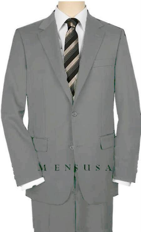 MensUSA.com UMO High Quality 2 Button Light Gray Suit Wide Leg 22 Inch Pleated Pants Double Vented Jacket(Exchange only policy) at Sears.com