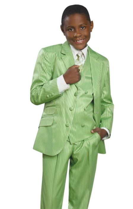 SKU#QVS24 Stylish 3 Button Green Suit in Mens Suit & Kids-Toddler-Boy Suits Sizes $99