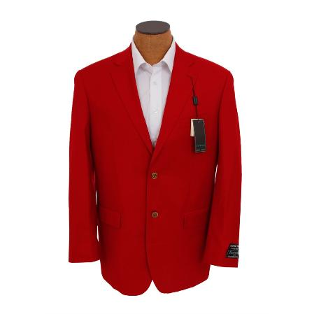Solid Red Sport Coat