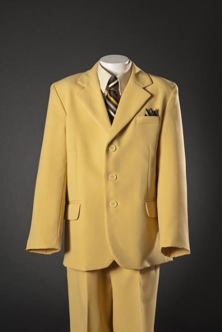 SKU#MST72 Mustard 5 Piece Kids-Toddler-Boy Suits $139