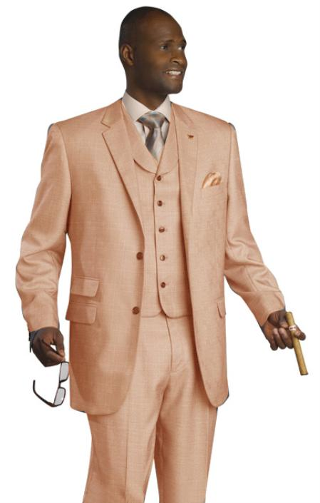 MensUSA High Quality 3PC 2 Button Coral Suit at Sears.com