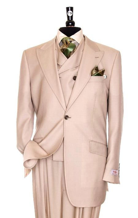 SKU#PLM81 Exclusive 3 Piece Peach Suit $795