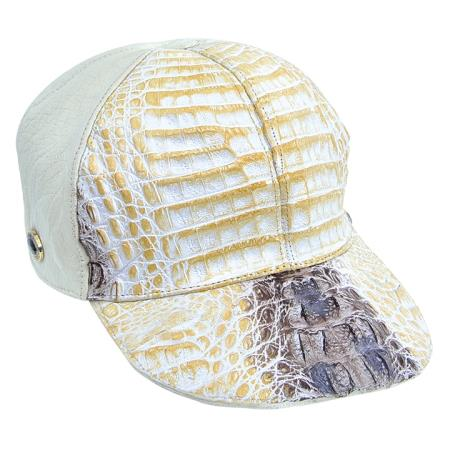 SKU#NHJ822 Natural Genuine Hornback Cap