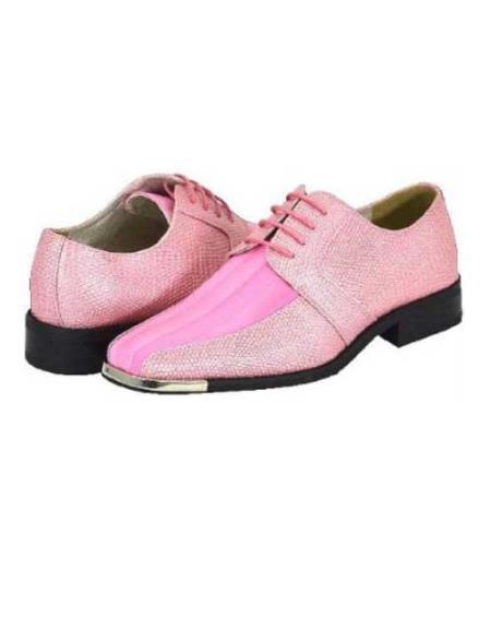 SKU#PNK821 Pink Mens Dress Shoes