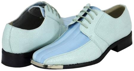 SKU#VGY732 Sky Blue Mens Dress Shoes $125