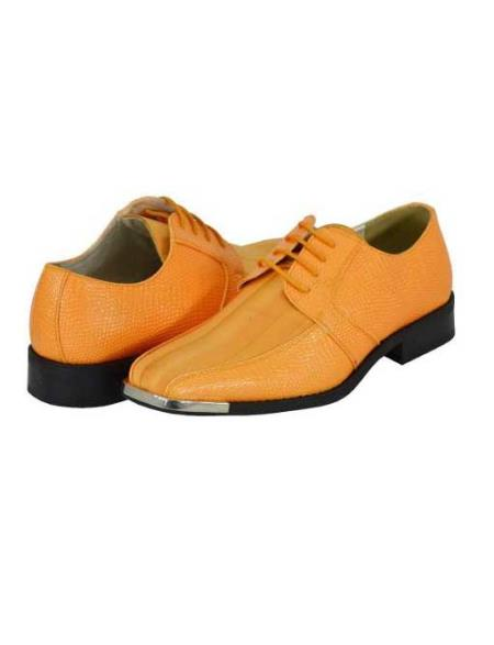 SKU#PEC90 Peach Mens Dress Shoes $125