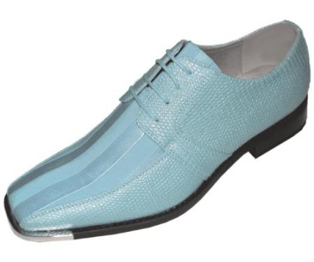 SKU#SJN77 Mens Sky Classic Oxford Striped Satin Dress Shoes $125