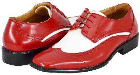 SKU#RWD82 All New Red White Mens Dress Shoes $125