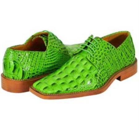 SKU#GRE88 All New lime mint Green ~ Apple ~ Neon Bright Green Mens Dress Shoes