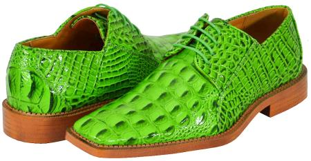 SKU#GRE88 All New Lime Green ~ Apple ~ Neon Bright Green Mens Dress Shoes $125