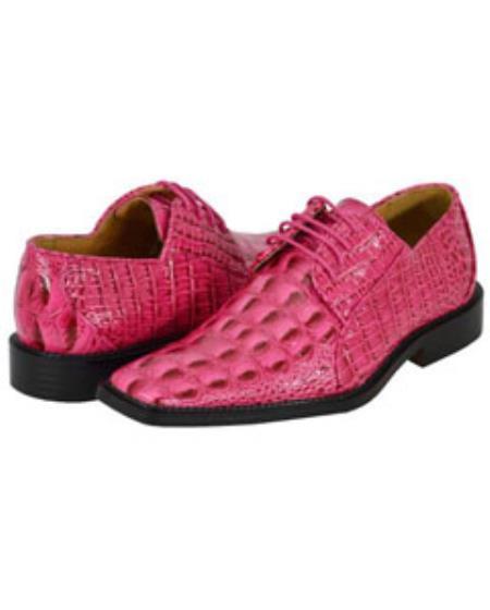 SKU#FSH72 All New fuchsia ~ hot Pink  Mens Dress Shoes $89