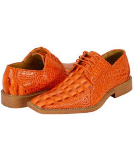 SKU#OEJ72 All New Orange Mens Dress Shoes $125