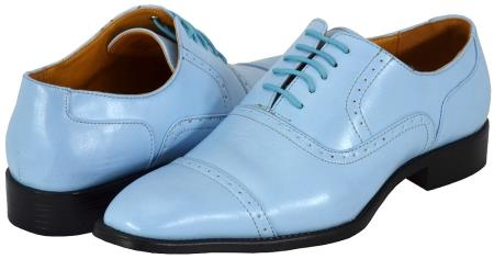 SKU#BLU81 All New Sky Blue~baby~powder blue Mens Dress Shoes $125