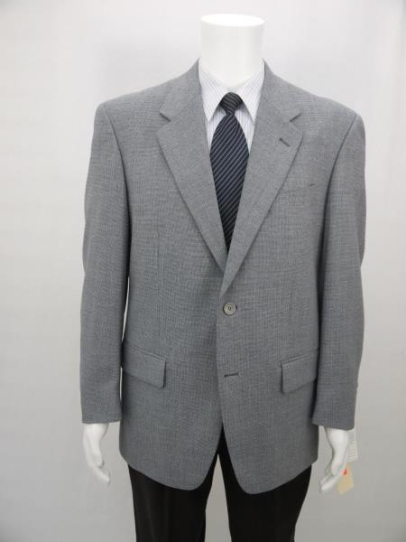 MensUSA.com Richard Harris Italian Style 2 Buttons 100 Wool Suit Jacket Blue Check(Exchange only policy) at Sears.com