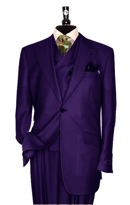 SKU#KS3727 Exclusive 3 Piece Purple Suit $795