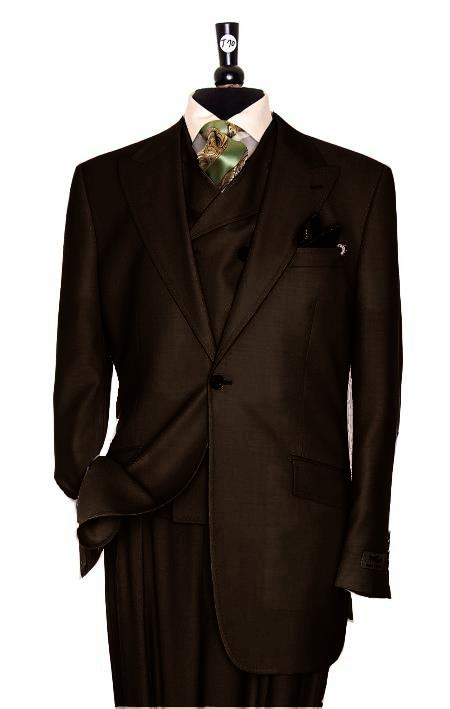 SKU#MR6594 Exclusive 3 Piece Brown Suit $795