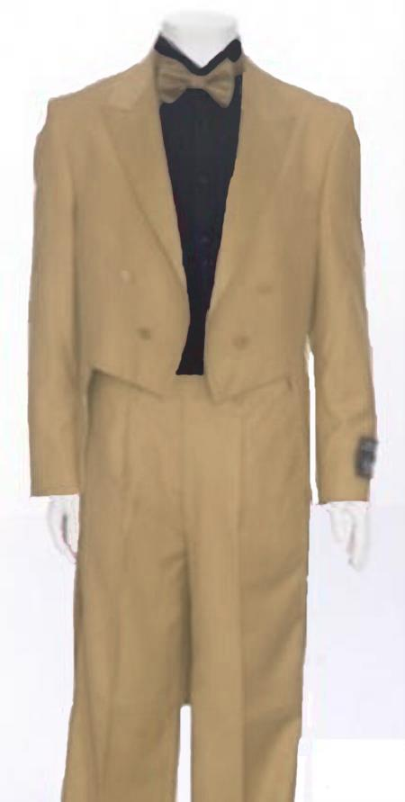 "SKU#GPW549 Tan Tail Peak Lapel Mens Tuxedo Pre Order Collection ""Delivery in 30 days"" $795"