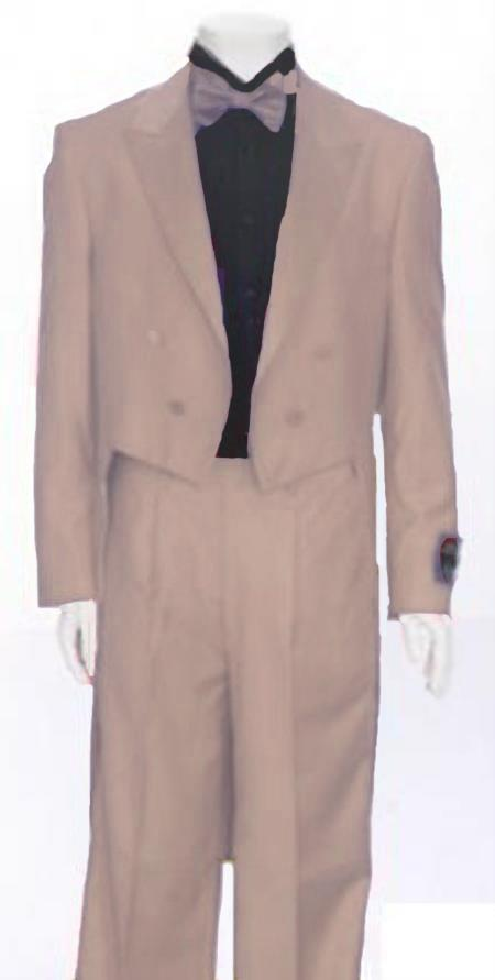 "SKU#FHU784 Sand Tail Peak Lapel Mens Tuxedo Pre Order Collection ""Delivery in 30 days"" $795"