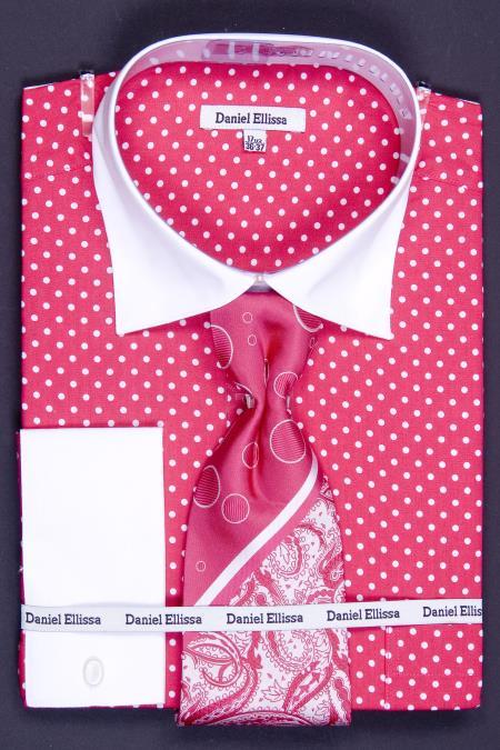 Sku Fdh62 100 Cotton French Cuff Shirt Tie Hanky Cuff
