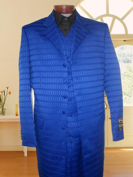 SKU#WQM53 First Quality New Zoot Suit Royal Blue $149