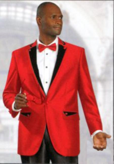 SKU#ED4 2 Button Shiny Sharkskin Satin Metallic Available in Red smoking jacket Suit $595