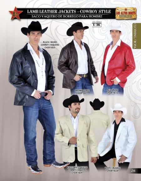 SKU#HBS21 Lamb Leather Jacket, Cowboy Style by Los Altos $219