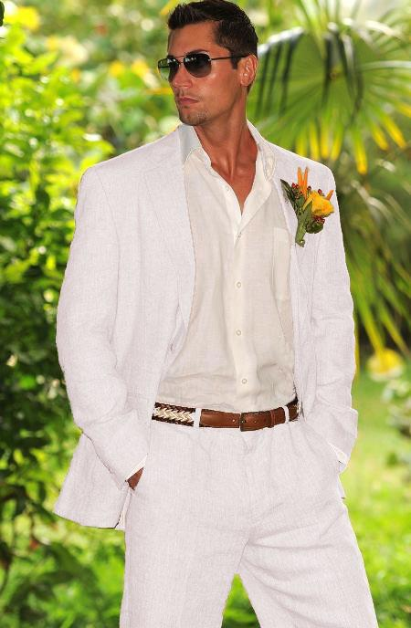 1960s Menswear Clothing & Fashion Ideas Mens 1 Linen Suit in White $149.00 AT vintagedancer.com
