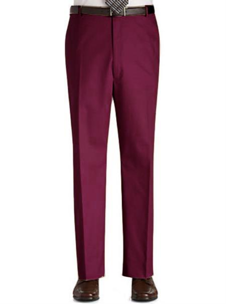 Mens Burgundy Slacks