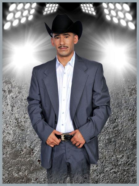 SKU#YLA2 Mens Western Suit Charcoal/Silver $239