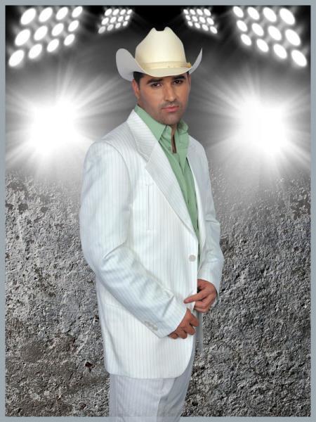 SKU#FDS90 Mens Western Suit White/Pistachio $239