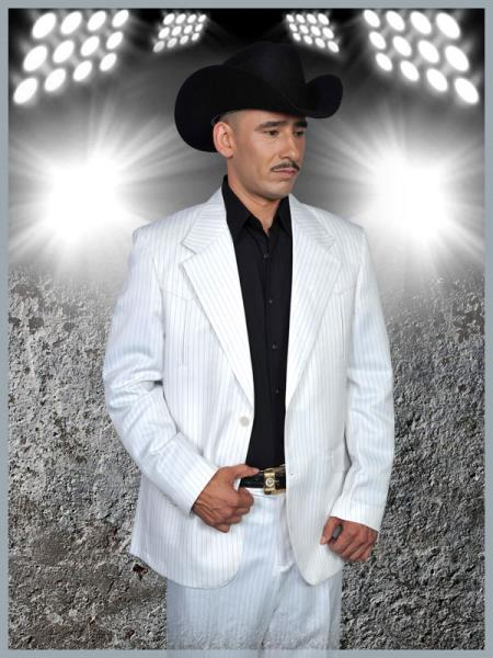 SKU#JNB88 Mens Western Suit in White/Black $239