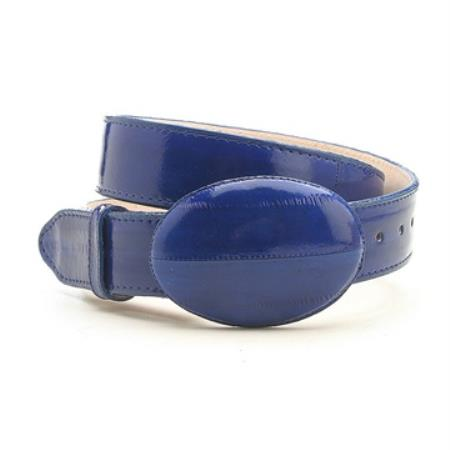 Blue Genuine Eelskin