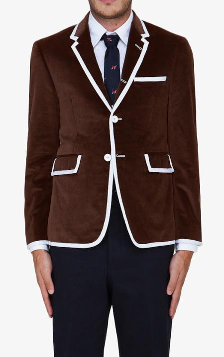 MensUSA Brown Classic Velvet Blazer at Sears.com